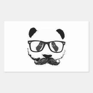 Mustache Pandaz In Da Disco Rectangular Sticker