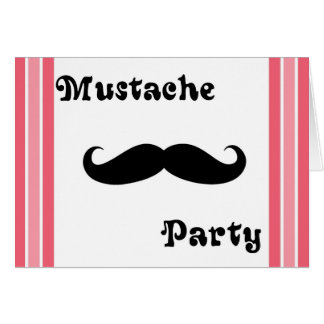 Mustache Party Card
