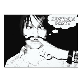 mustache party : comic staches card
