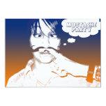 mustache party : comic staches invitations