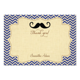 Mustache Party Thank You Card