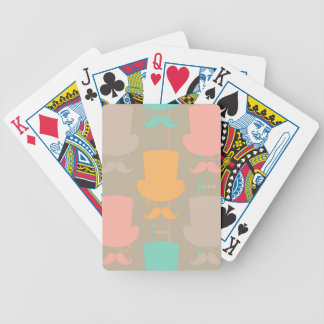 Mustache pattern 2 bicycle playing cards