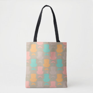 Mustache pattern 2 tote bag