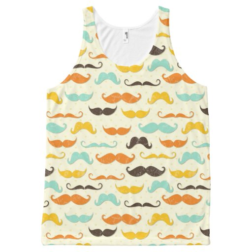 Mustache pattern 3 All-Over print tank top Tank Tops, Tanktops Shirts
