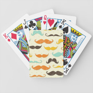 Mustache pattern 3 bicycle playing cards