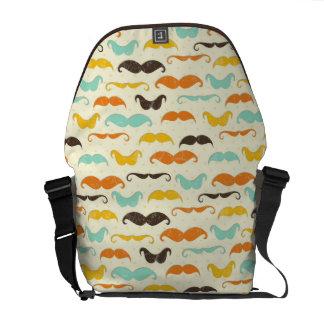 Mustache pattern 3 messenger bag