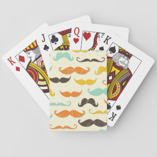 Mustache pattern 3 playing cards