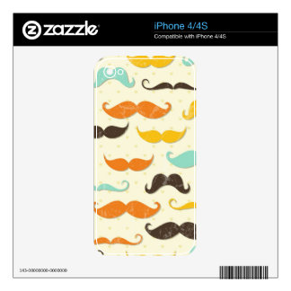 Mustache pattern 3 decal for the iPhone 4