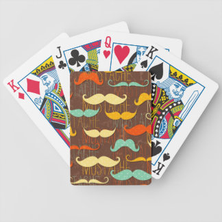 Mustache pattern bicycle playing cards