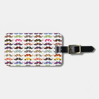 Mustache pattern is cute luggage tag