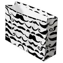 Mustache Pattern Large Gift Bag