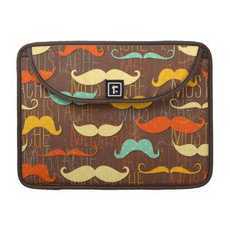Mustache pattern MacBook pro sleeve