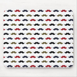 Mousepad with Mustache Patterns design