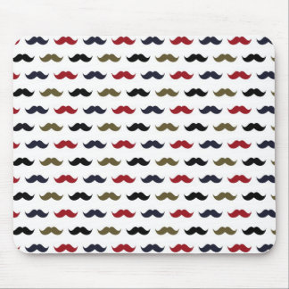 Mustache Pattern Mouse Pad