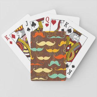 Mustache pattern poker deck