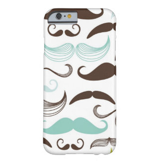 Mustache pattern, retro style 2 barely there iPhone 6 case