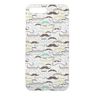 Mustache pattern, retro style 2 iPhone 7 plus case