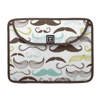 Mustache pattern, retro style 2 sleeves for MacBook pro
