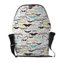 Mustache pattern, retro style 2 messenger bag