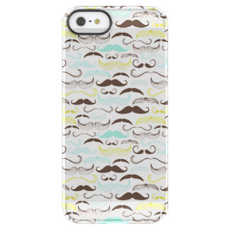 Mustache pattern, retro style 2 permafrost iPhone SE/5/5s case
