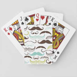 Mustache pattern, retro style 2 poker cards