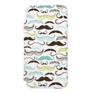 Mustache pattern, retro style 2 wallet case for iPhone SE/5/5s
