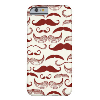 Mustache pattern, retro style 3 barely there iPhone 6 case
