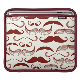Mustache pattern, retro style 3 sleeves for iPads