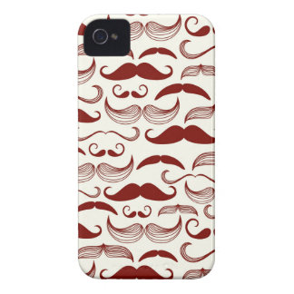 Mustache pattern, retro style 3 iPhone 4 cover