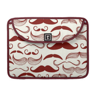 Mustache pattern, retro style 3 MacBook pro sleeves
