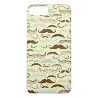 Mustache pattern, retro style 4 iPhone 7 plus case