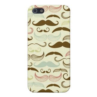 Mustache pattern, retro style 4 iPhone SE/5/5s case