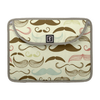 Mustache pattern, retro style 4 sleeves for MacBook pro