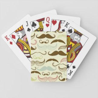 Mustache pattern, retro style 4 poker deck
