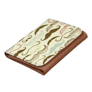 Mustache pattern, retro style 4 wallets