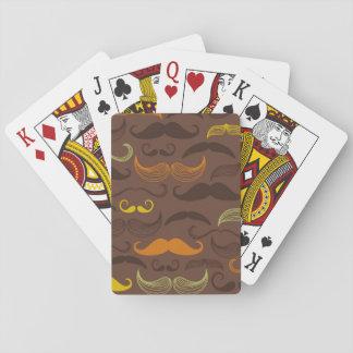 Mustache pattern, retro style 5 card decks