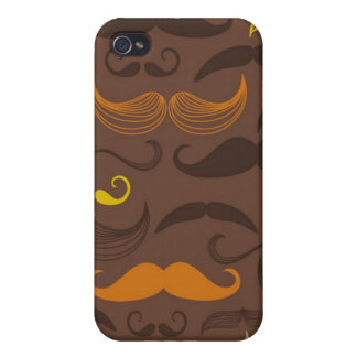Mustache pattern, retro style 5 cases for iPhone 4