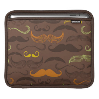 Mustache pattern, retro style 5 sleeve for iPads