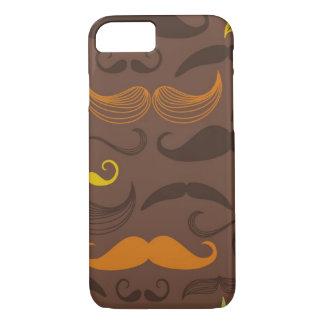 Mustache pattern, retro style 5 iPhone 7 case