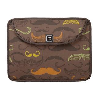 Mustache pattern, retro style 5 sleeve for MacBooks