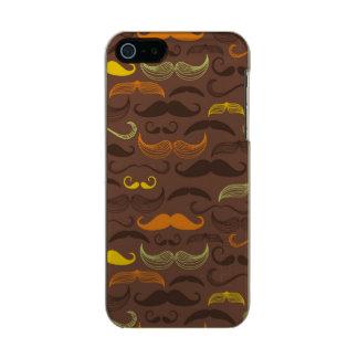 Mustache pattern, retro style 5 metallic phone case for iPhone SE/5/5s