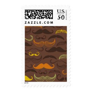 Mustache pattern, retro style 5 postage