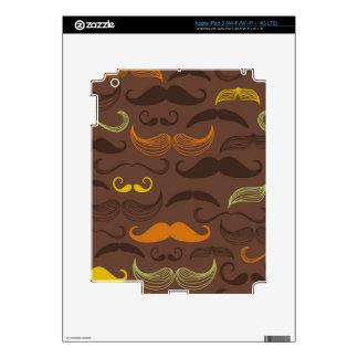 Mustache pattern, retro style 5 iPad 3 skin