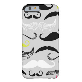 Mustache pattern, retro style barely there iPhone 6 case