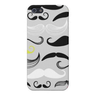 Mustache pattern, retro style cover for iPhone SE/5/5s