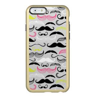 Mustache pattern, retro style incipio feather shine iPhone 6 case
