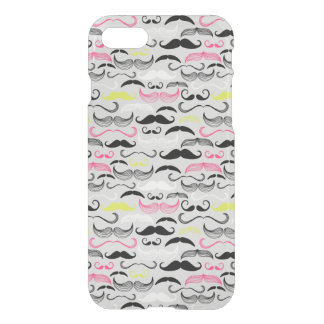 Mustache pattern, retro style iPhone 7 case