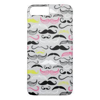 Mustache pattern, retro style iPhone 7 plus case