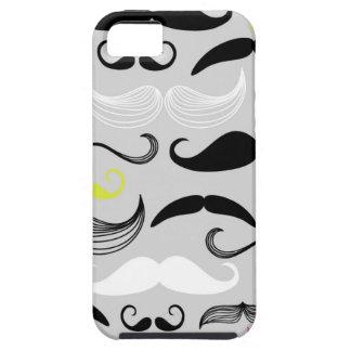 Mustache pattern, retro style iPhone SE/5/5s case