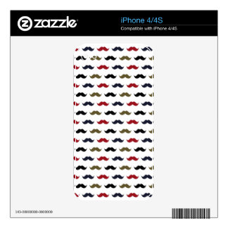 Mustache Pattern Decal For iPhone 4S